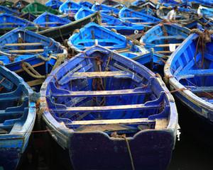 Moroccan blue fishing boats
