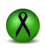 cancer symbol - green poster