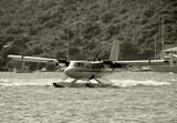 Seaplane visiting St Thomas, US Virgin Islands poster