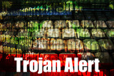 Trojan Alert on a  Technology Background poster