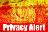 Privacy Issues Alert Warning Message poster