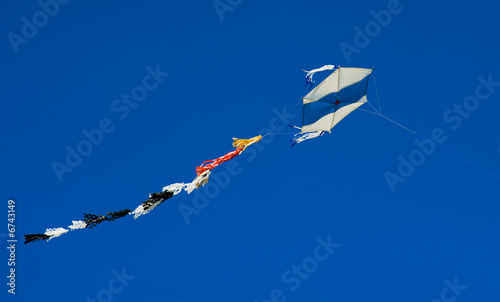 Kite in blue sky