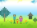 pixels; poster
