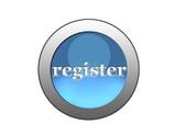 blue button register poster