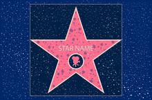 Hollywood Walk of Fame: star de cinéma dans le vecteur
