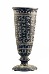 Egyptian vase engaved with hieroglyphs