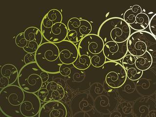 ornamental curly vine pattern