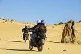 Motor riders in the Pinnacles desert Australia poster