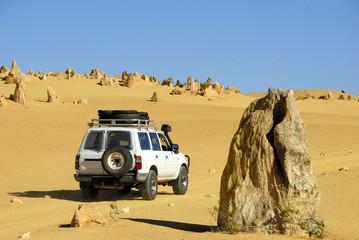 Four wheel drive in the Pinnacles desert Australia