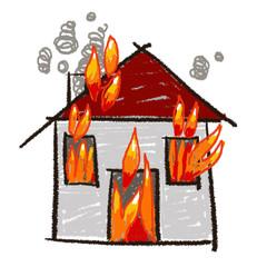 maison en feu