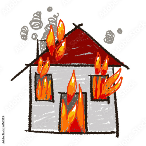 Maison en feu dessin ventana blog for Au feu les pompiers la maison