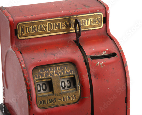 Isolated Vintage Coin Bank