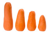 Four peeled carrots cutout poster