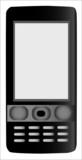 Teléfono móvil negro poster