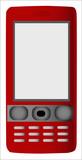 Teléfono móvil rojo poster
