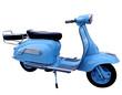 scooter bleu