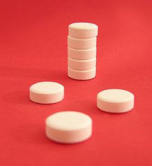 tower of white tablets