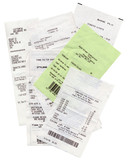 Receipts of purchase - supermarket receipt poster