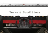 Typewriter Terms & Conditions poster
