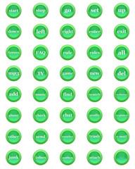 all buttons green