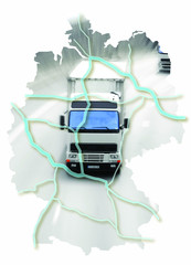 carte allemagne camion route