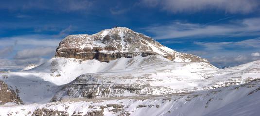 Beautiful winter mountain landscape panorama