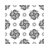 seamless repeating black and white tattoo design poster