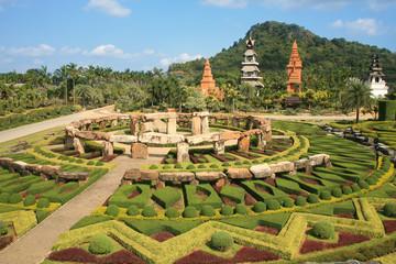 Oriental garden with nice landscape design