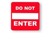 Prohibitive caution sign poster