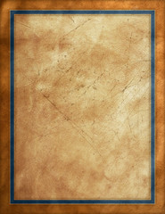 Rustic worn leather paper frame