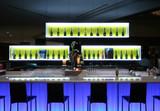 Bar in trendy nightclub poster