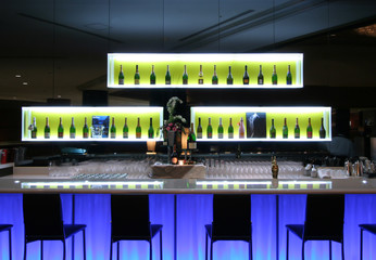 Bar in trendy nightclub