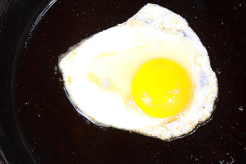 Egg in a frying pan