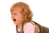 Desperately crying toddler poster