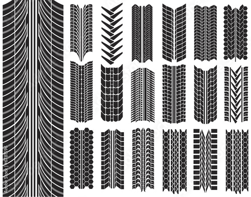 vector illustration of tires