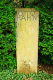 Gravestone of the famous physician Otto Hahn poster