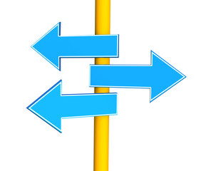 Three indexes - arrows, specifying different directions