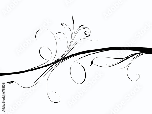 Staande foto Spiraal Floral background