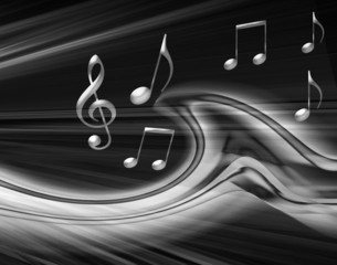 Black and gray musical background