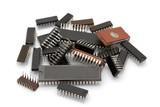 Computer microchips poster