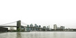 Brooklyn bridge and lower Manhattan skyline panoramic view over