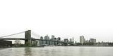Brooklyn bridge and lower Manhattan skyline panoramic view over - 6800971
