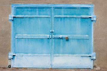 blue garage gates