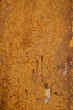 Detail of rusty metal surface with scratches poster