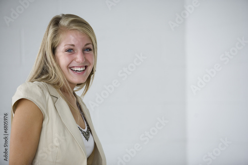 Portrait of a cheerful business woman.