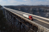 Trucker on New River Gorge Bridge