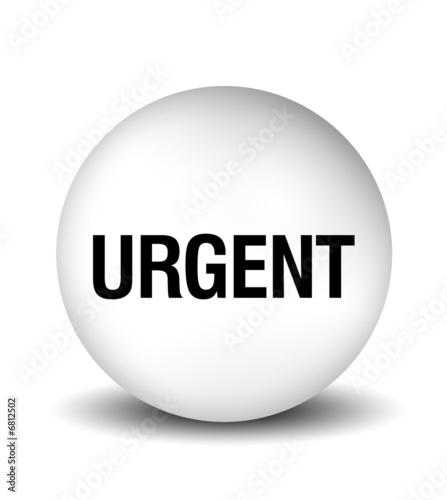 Illustration: Urgent Icon - white