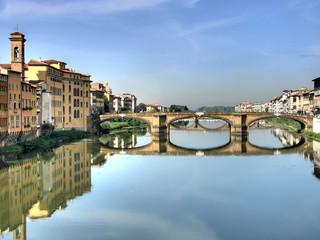 Michelangelo bridge in Florence hdr