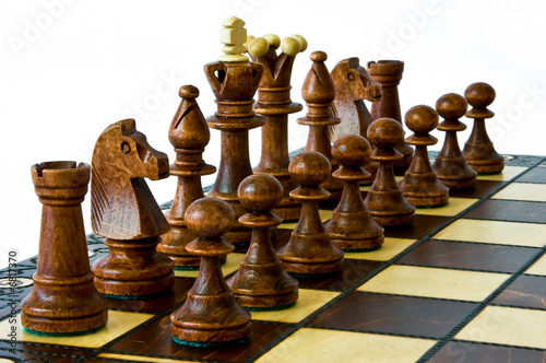 Dark chess set, ready to play