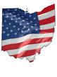 u.s. flag over Ohio